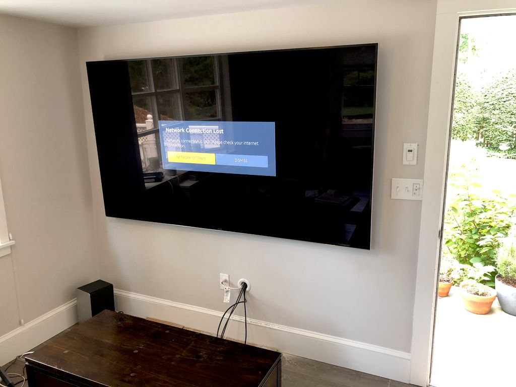 85 Samsung tv wall mount and wires conceal