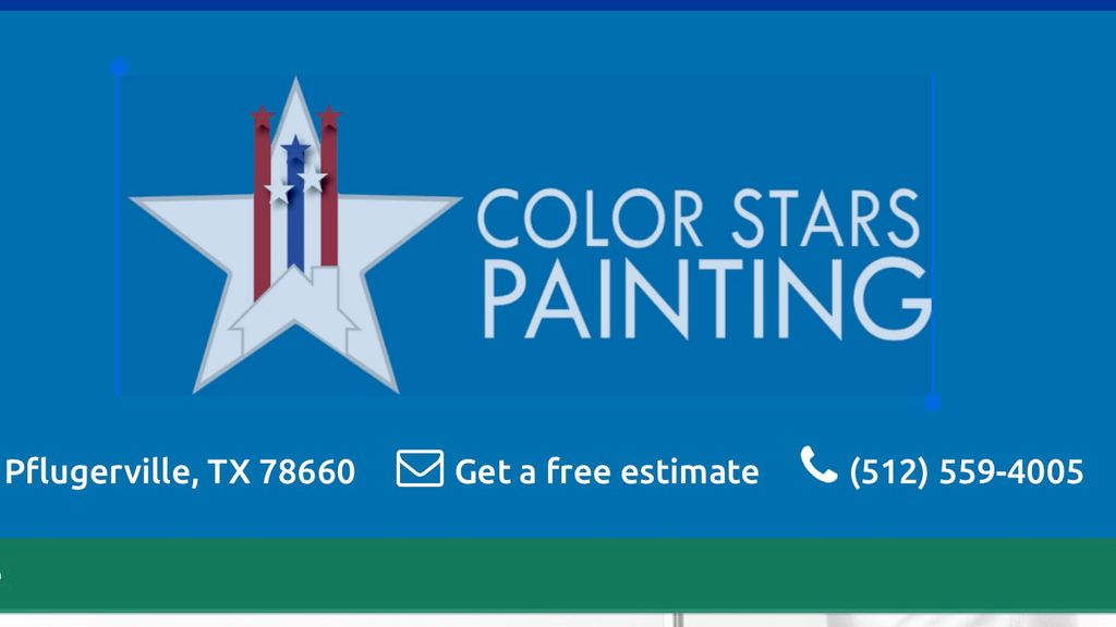 Color stars painting