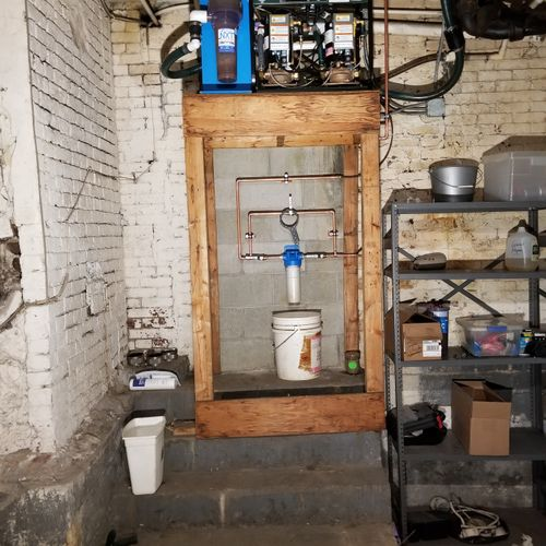 Individual equipment water filtration