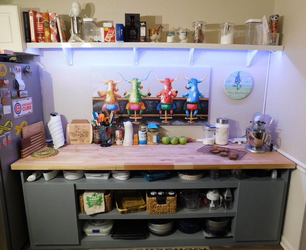 Maple top baking station