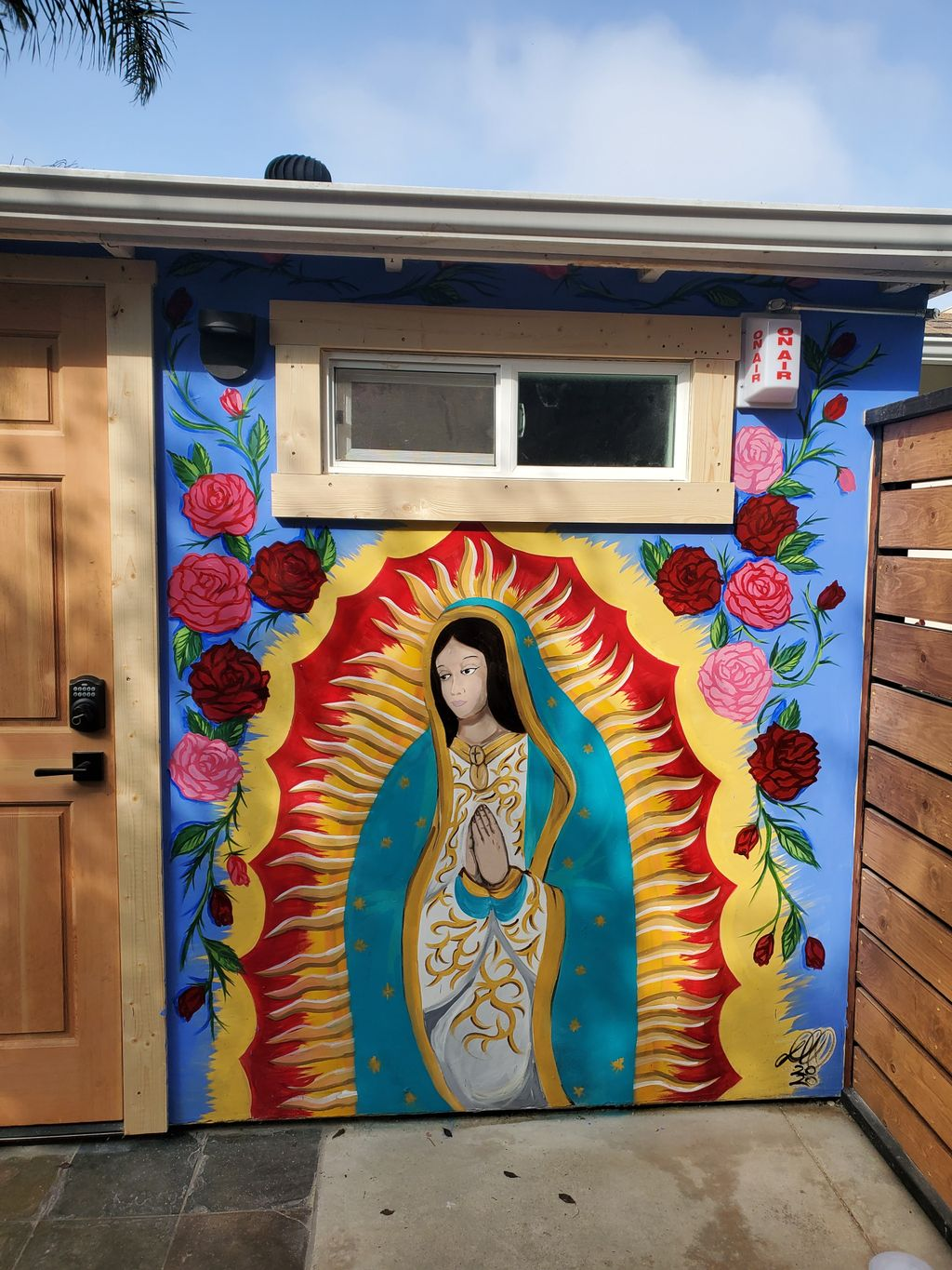 Lady Guadalupe mural
