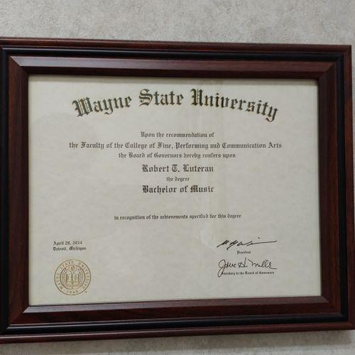 Wayne State University- Music Composition/Theory