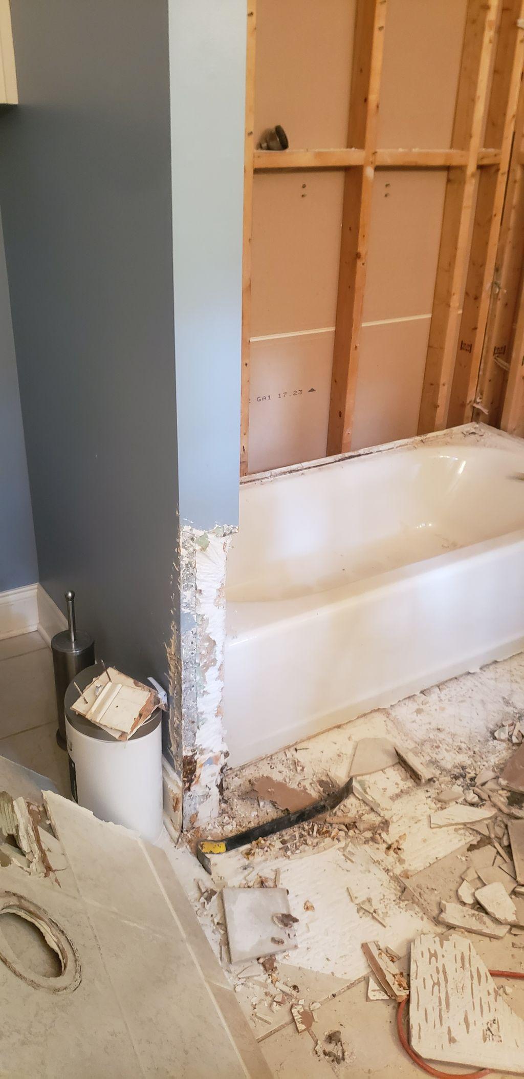 Bathtub to Marble Shower