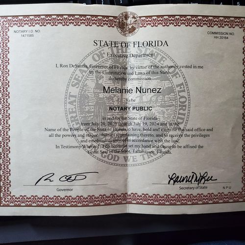 Notary Certificate