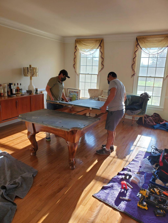 Pool Table Move & Setup