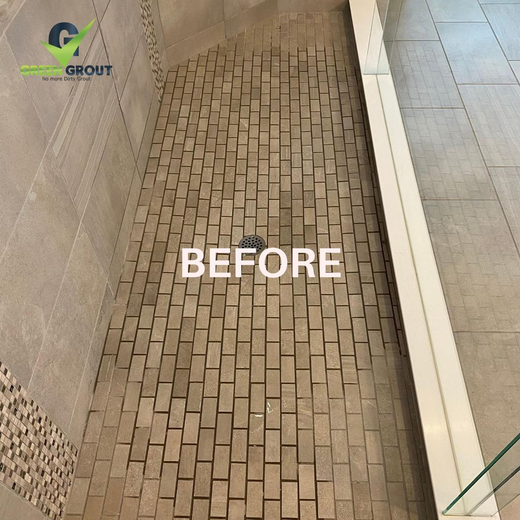 Shower Cleaning and Color Sealing Restoration