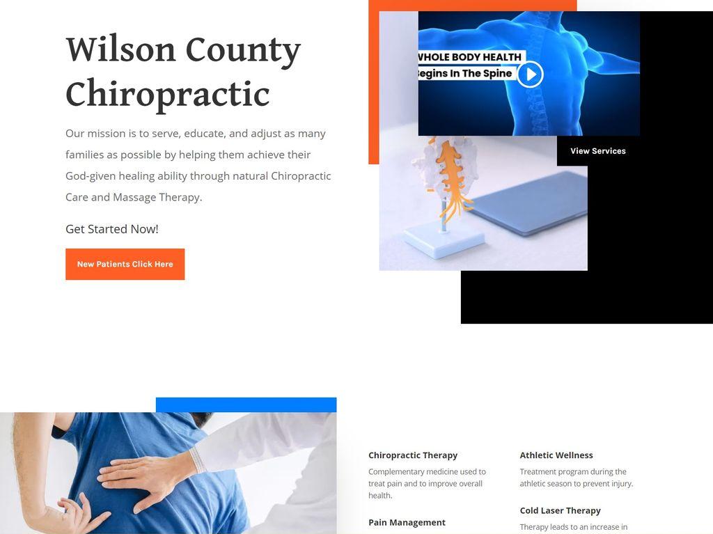 Chiropractic Practice Website Build