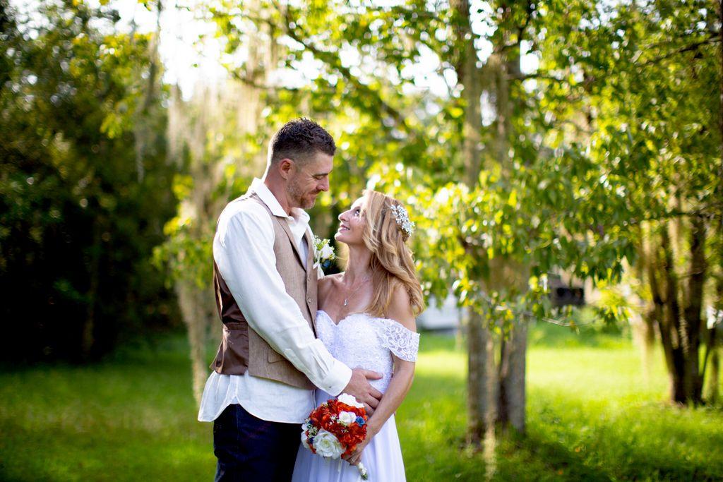 Outdoor backyard wedding