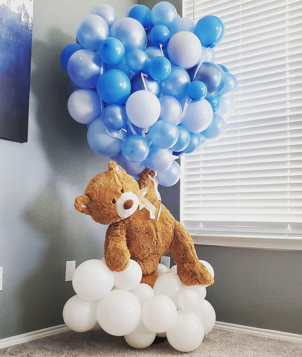 Floating Bear and Hot Air Balloons