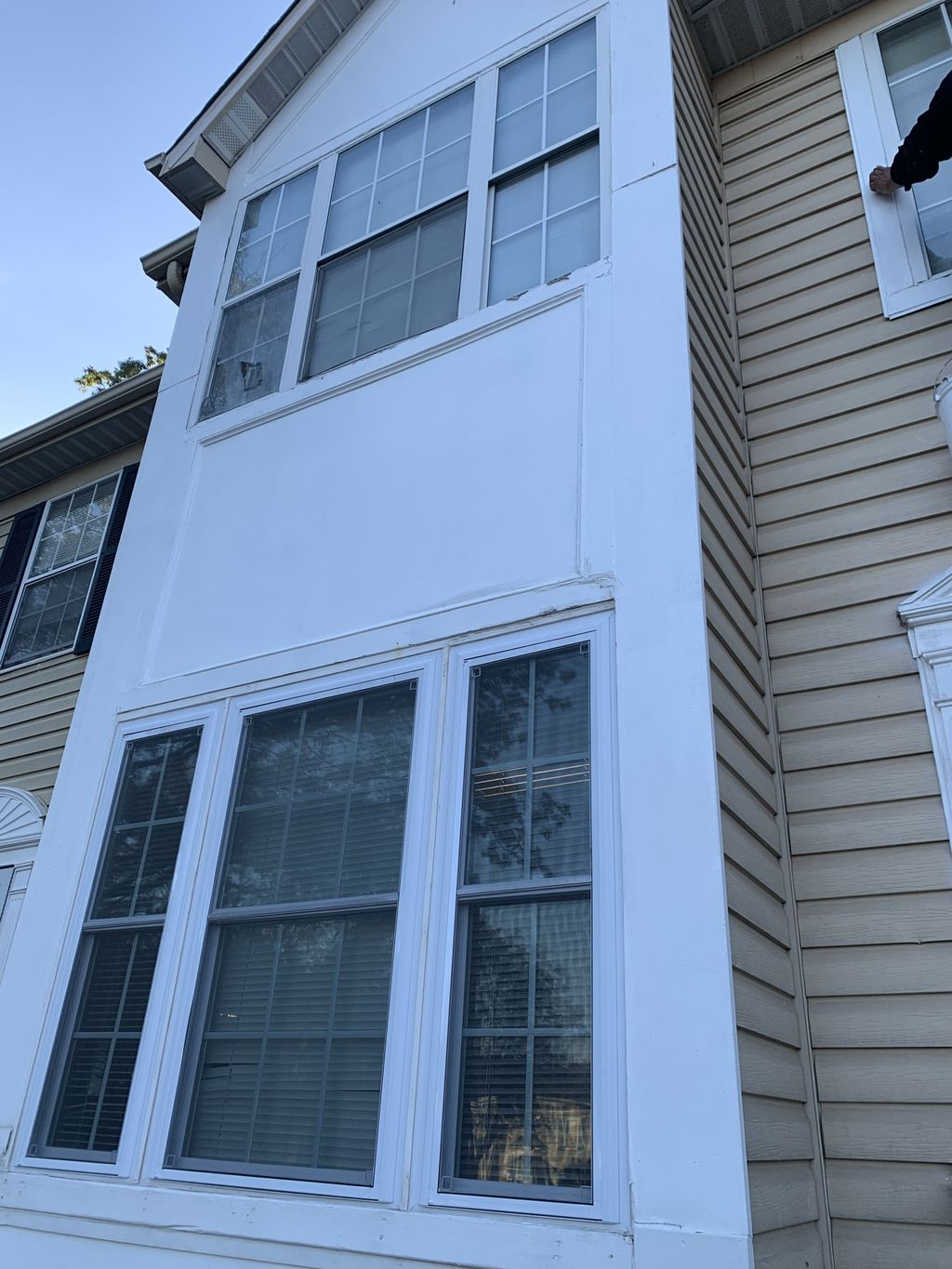Repainted front window frame