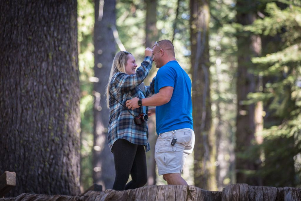 Wedding Proposal in Big Trees State Park