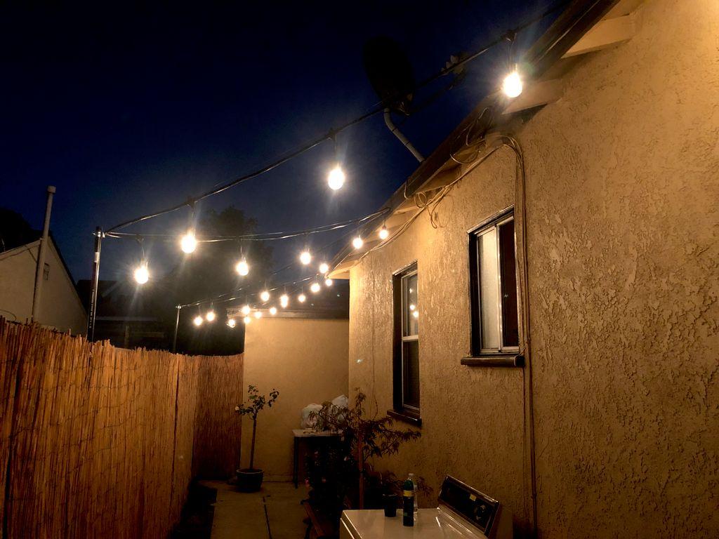 Cafe patio lighting
