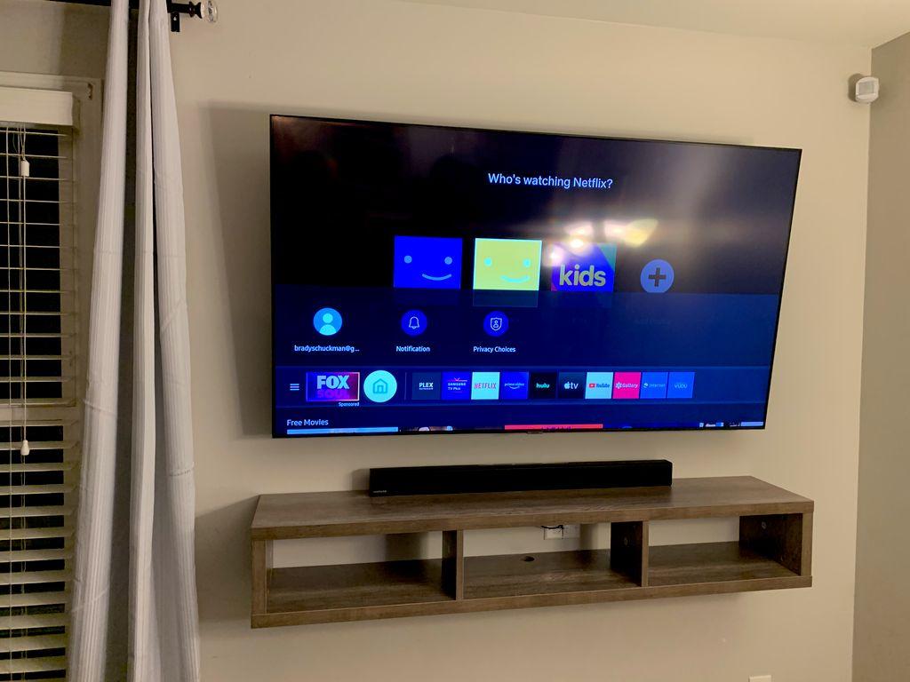 Tv mount and shelf
