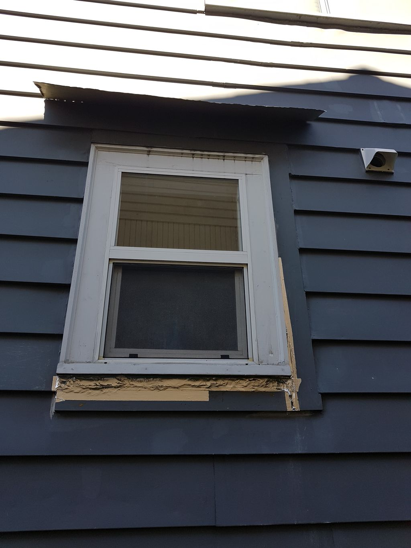 Exterior repair trim and siding repair