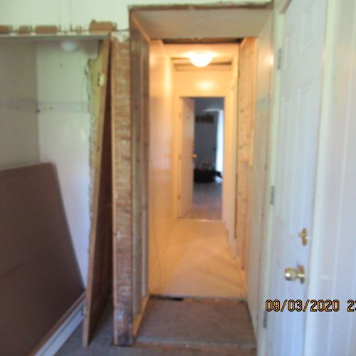 During Interior Wall Removal