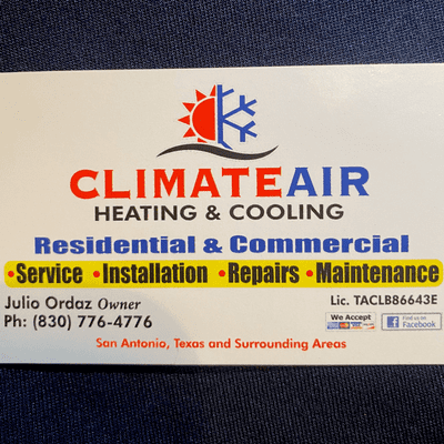 Avatar for Climate Air Heating & Cooling LLC