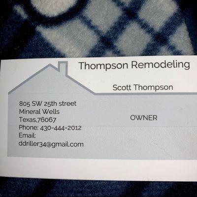 Avatar for Thompson Remodeling Serves
