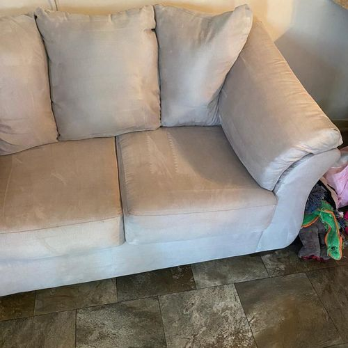 Upholstery cleaning/ after