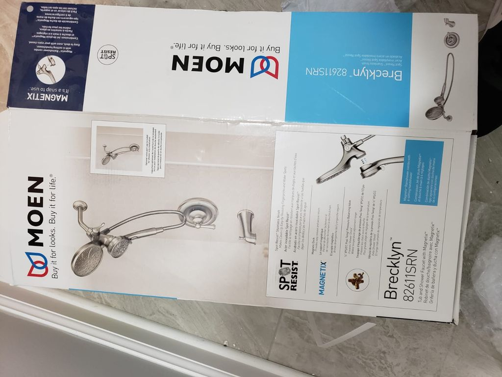 Shower head and faucet Installation