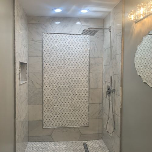 Shower Area with Special Design