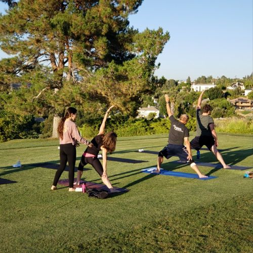 Sunset, Vinyasa Yoga @ Braemar Country Club