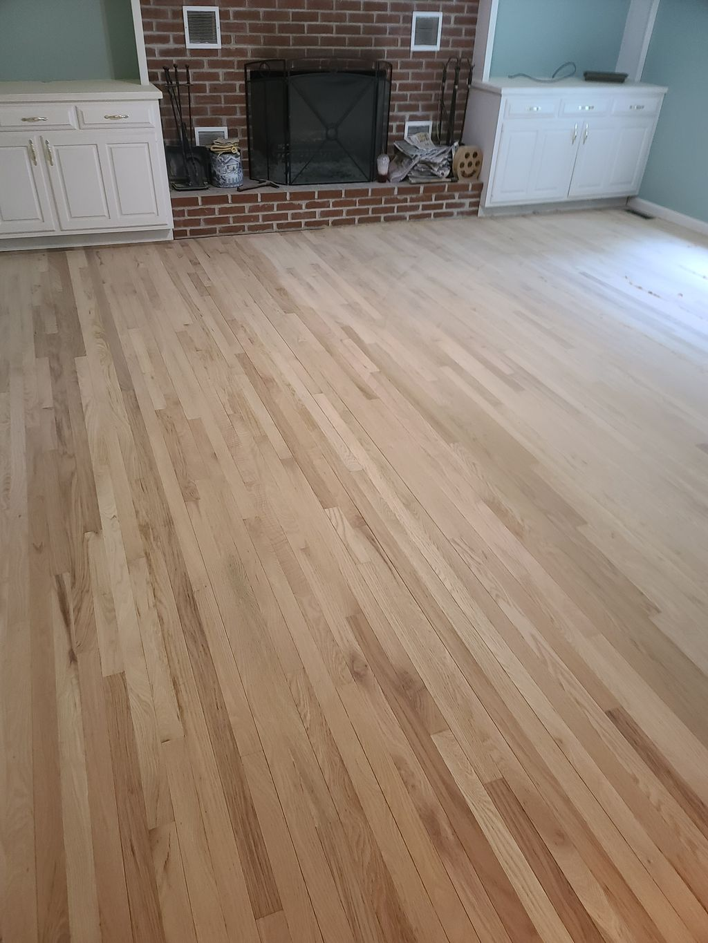 Oak hardwood unfinished and stained
