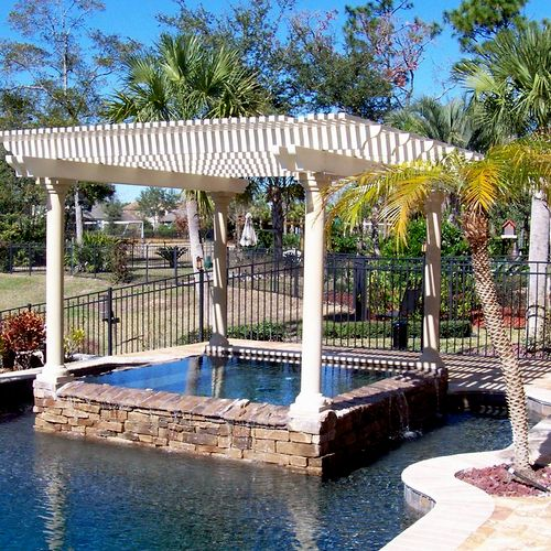 Freestanding Pergola Lattice Patio