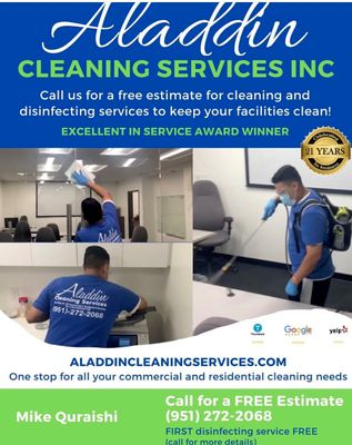 Avatar for Aladdin Cleaning Services Inc.