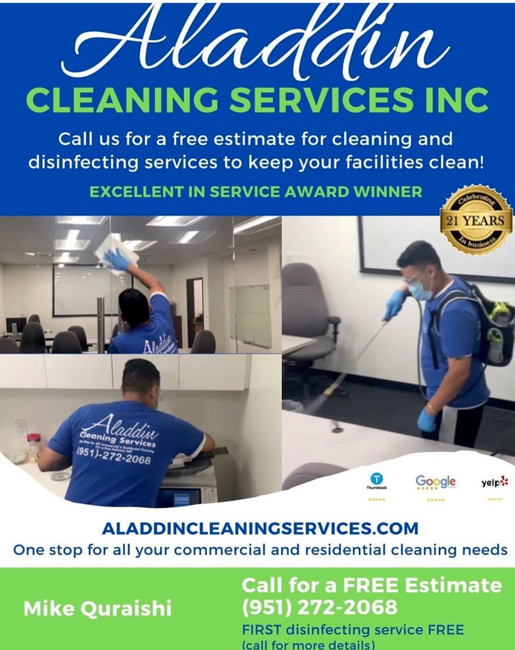Aladdin Cleaning Services Inc.