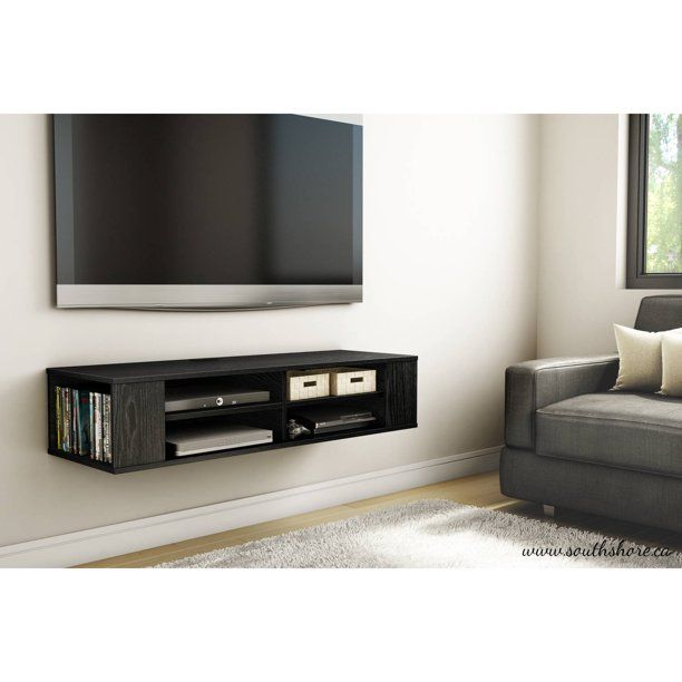Wall mounted TV and mounted console