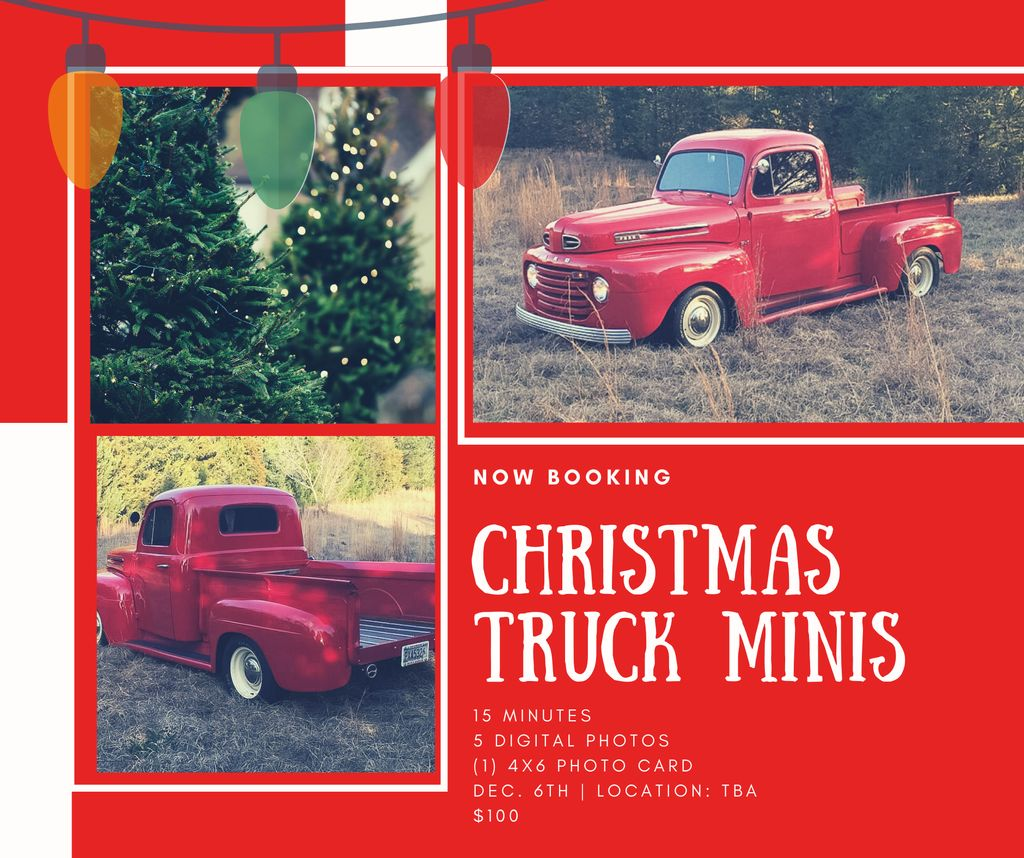 NOW BOOKING CHRISTMAS TRUCK MINI SESSIONS