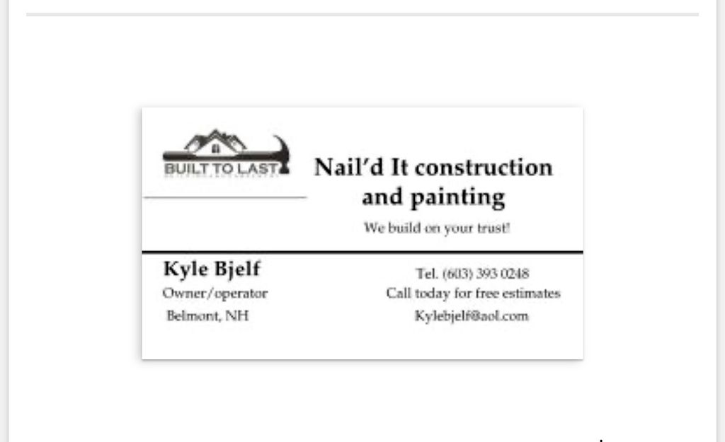 Nail'd it construction and painting