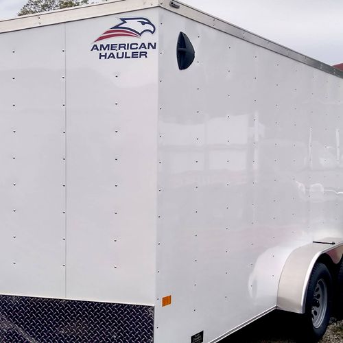 the trailer we use to safely move every item!