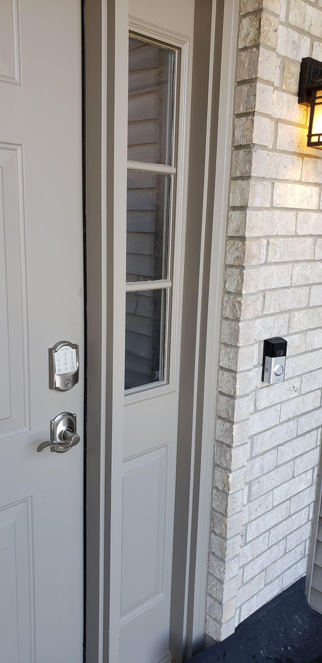 Smart lock and ring doorbell install
