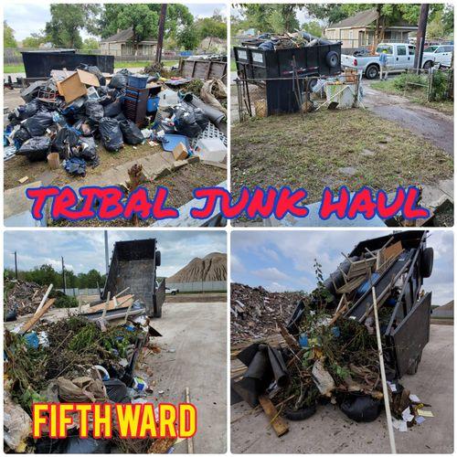 fifth Ward yard debris house clean out