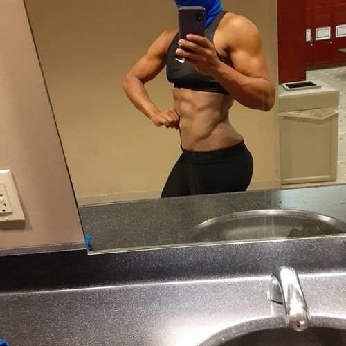 Here is Tiff 2 weeks out from her 1st wellness contest!