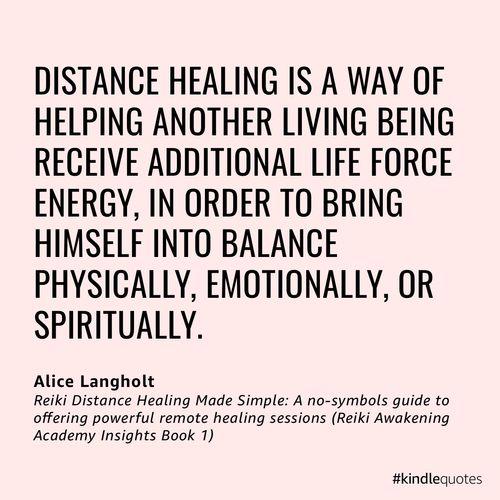 distance healing through energy waves