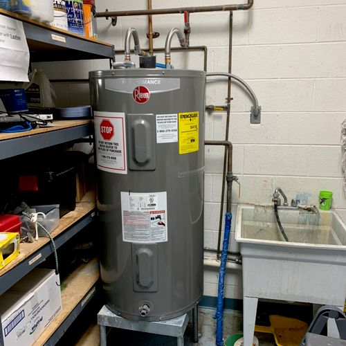 Installed new 50gal water heater
