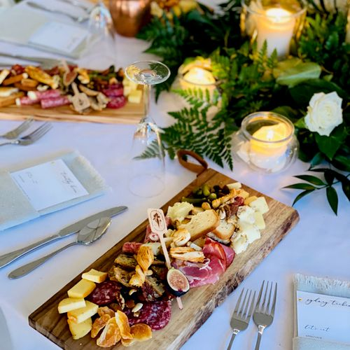 Individual Charcuterie Boards for a Highlands Ranch Wedding
