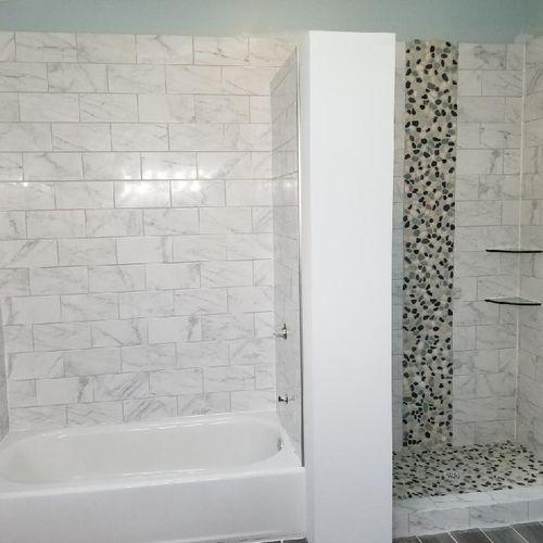 Carrara white marble ceramic tile