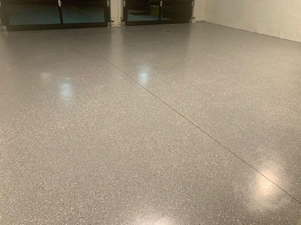 Epoxy flooring garage