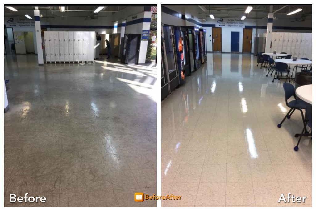 Employee Break Room Floor Restoration