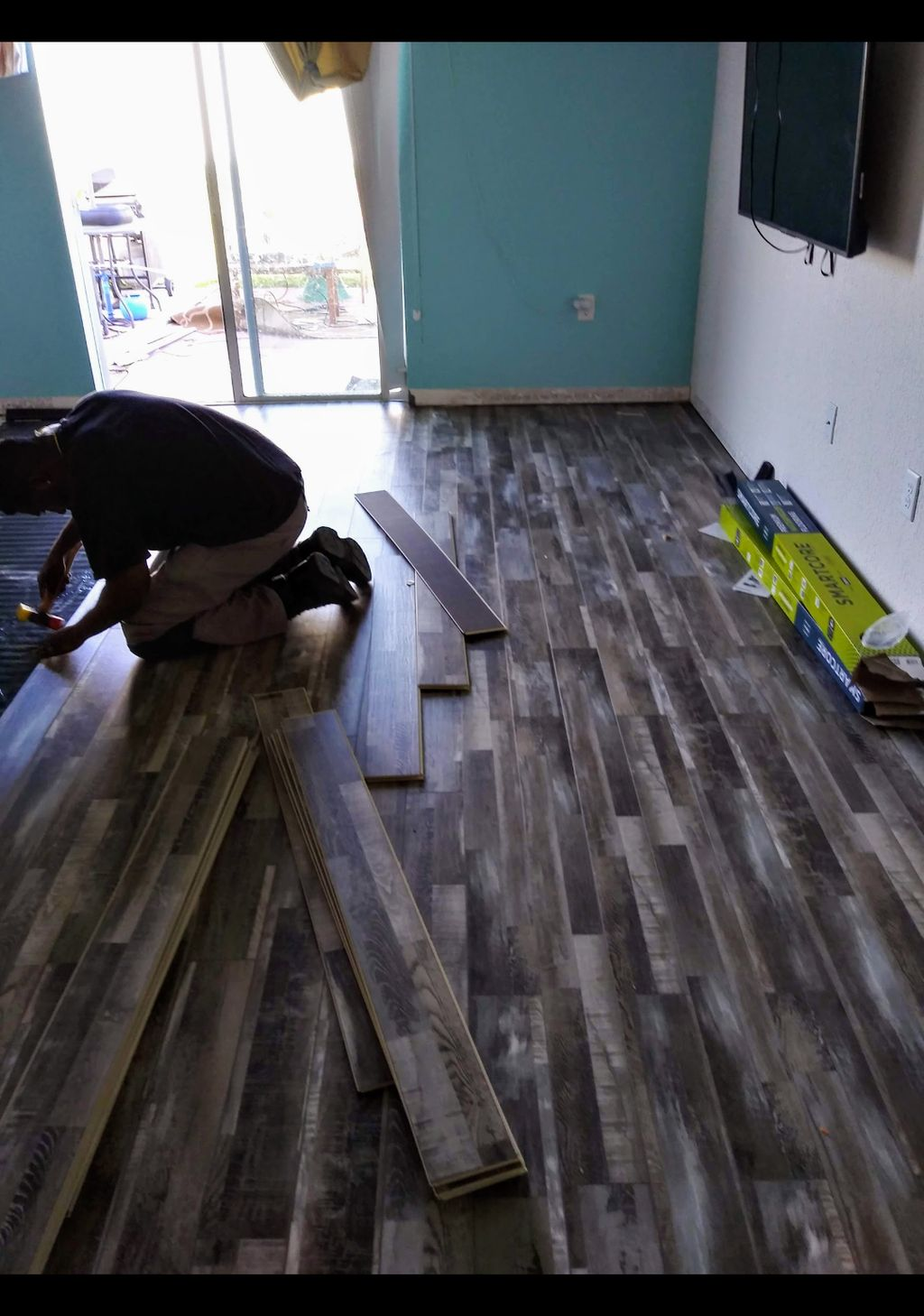 Flooring and baseboards