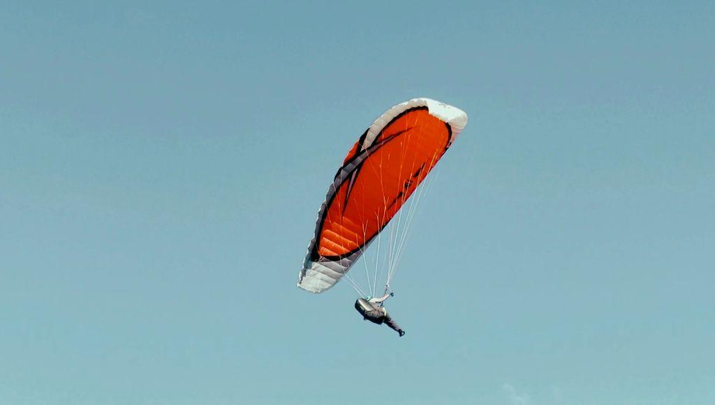 ITV paragliding gear commercial