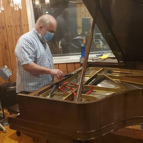 Tuning a Steinway at the internationally famous Turtle Studios in Philadelphia.