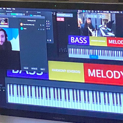 Online Lesson with Student