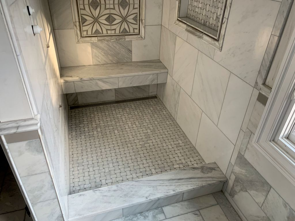 Shower Seat and Curb