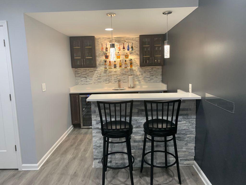 Basement with Bar Area