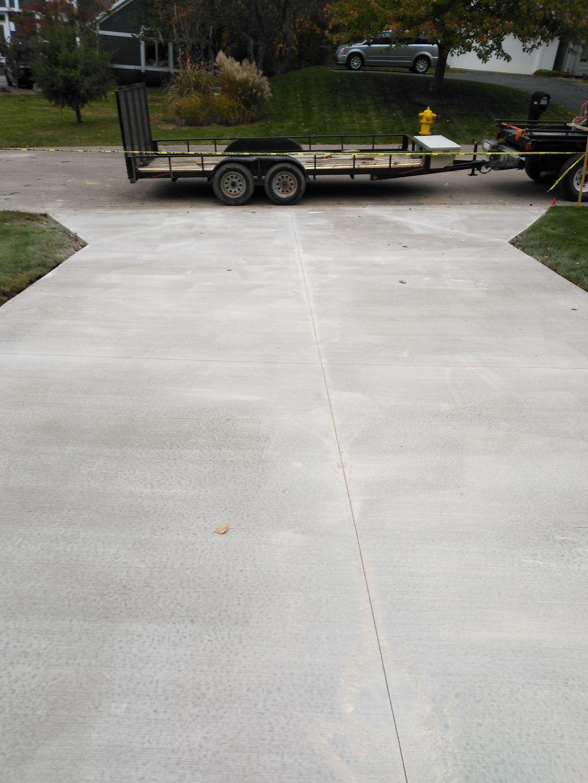 Concrete drive an side walk