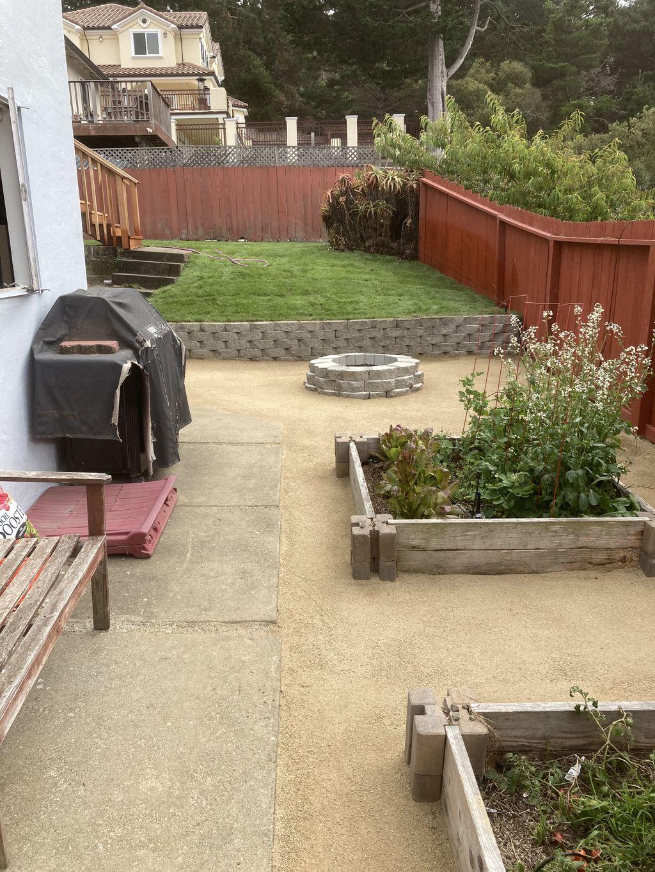 3 sprinkler systems, retaining wall,fireplace, granite patio